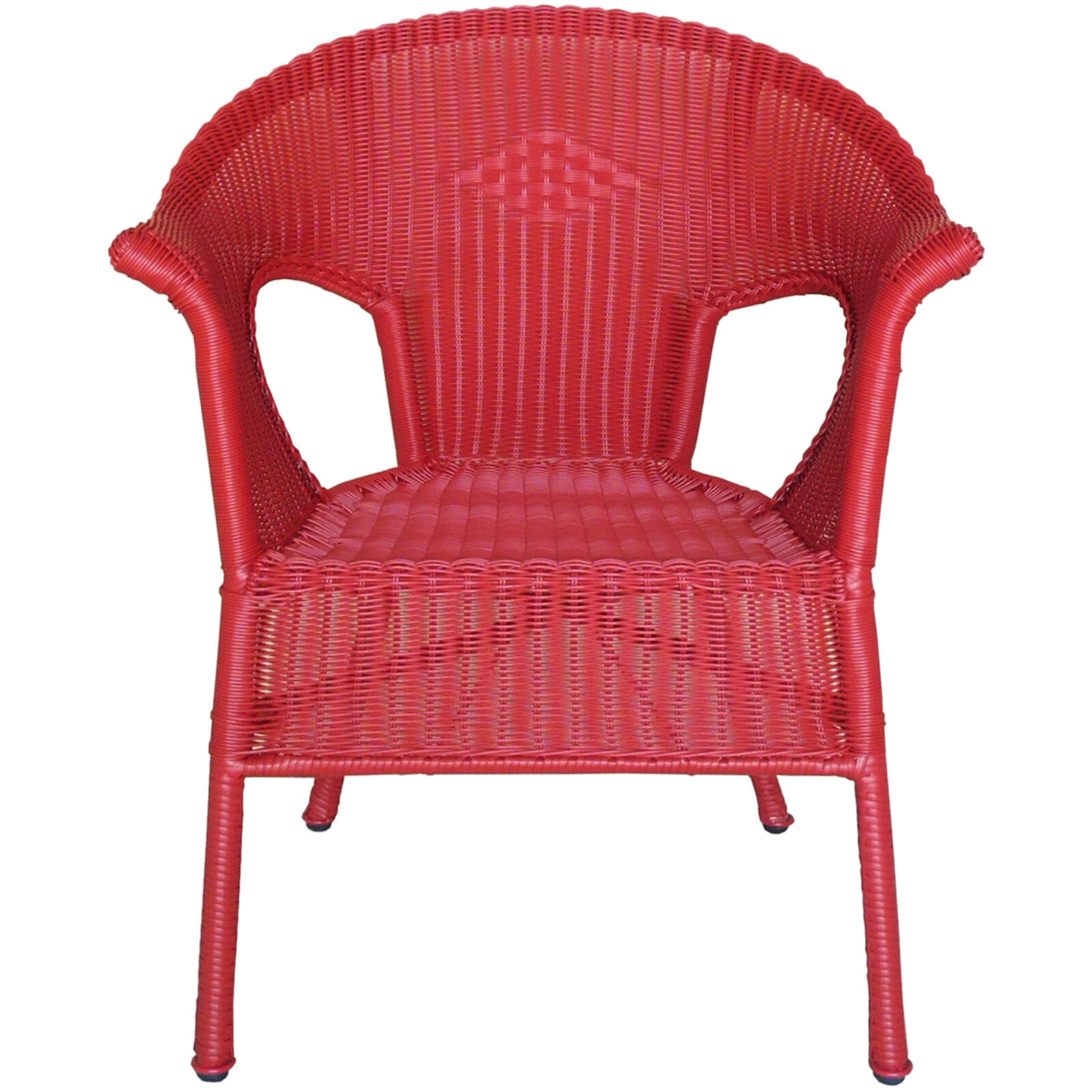 Red Outdoor Wicker Chair Home
