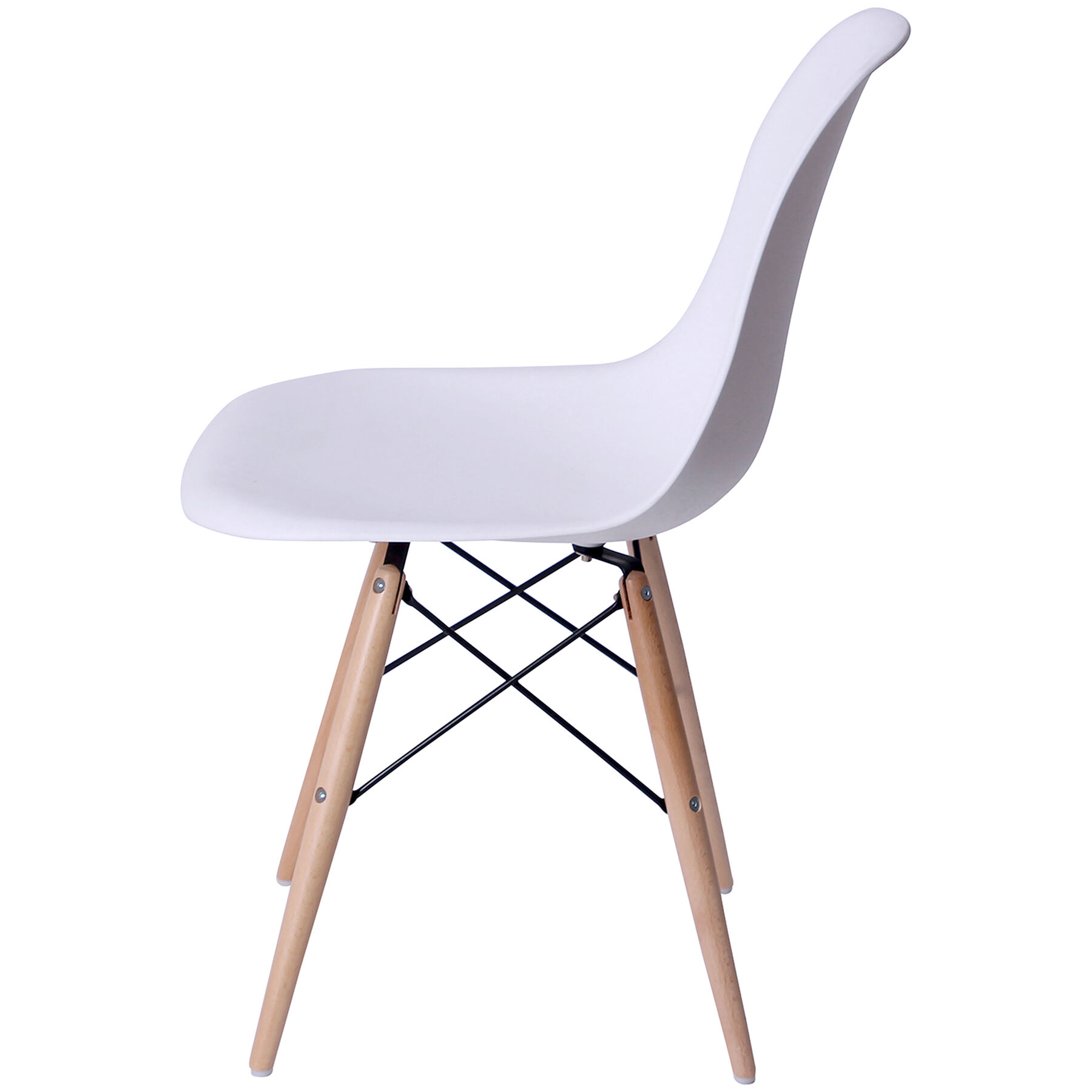 eiffel chair wood legs kitchen pads pottery barn white with at home
