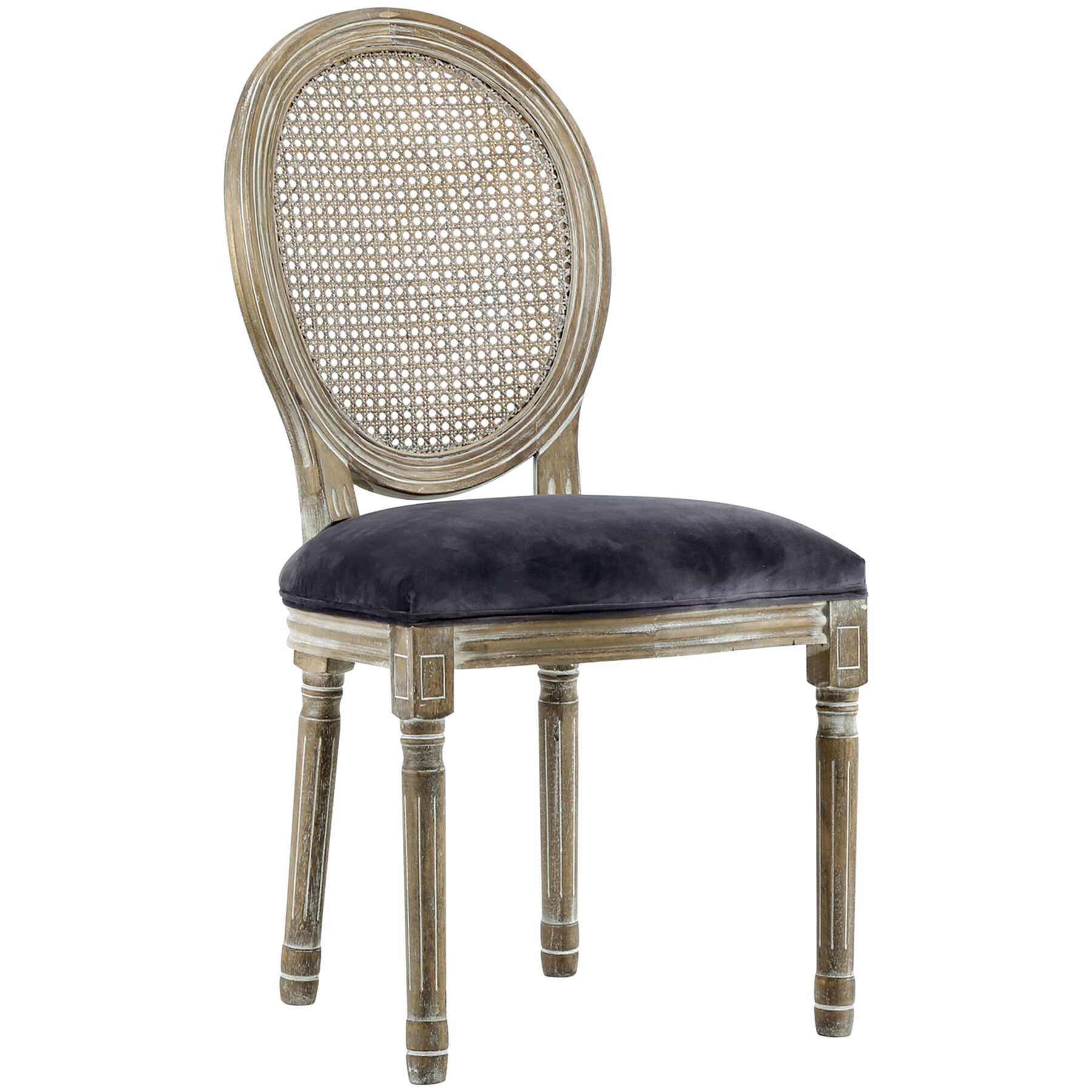 scoop back dining room chairs modern folding chair collection at home stores riva grey velvet