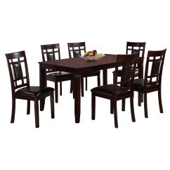Breakfast Table And Chairs Set Folding Chair Target 7 Piece Paige Wood Dining At Home