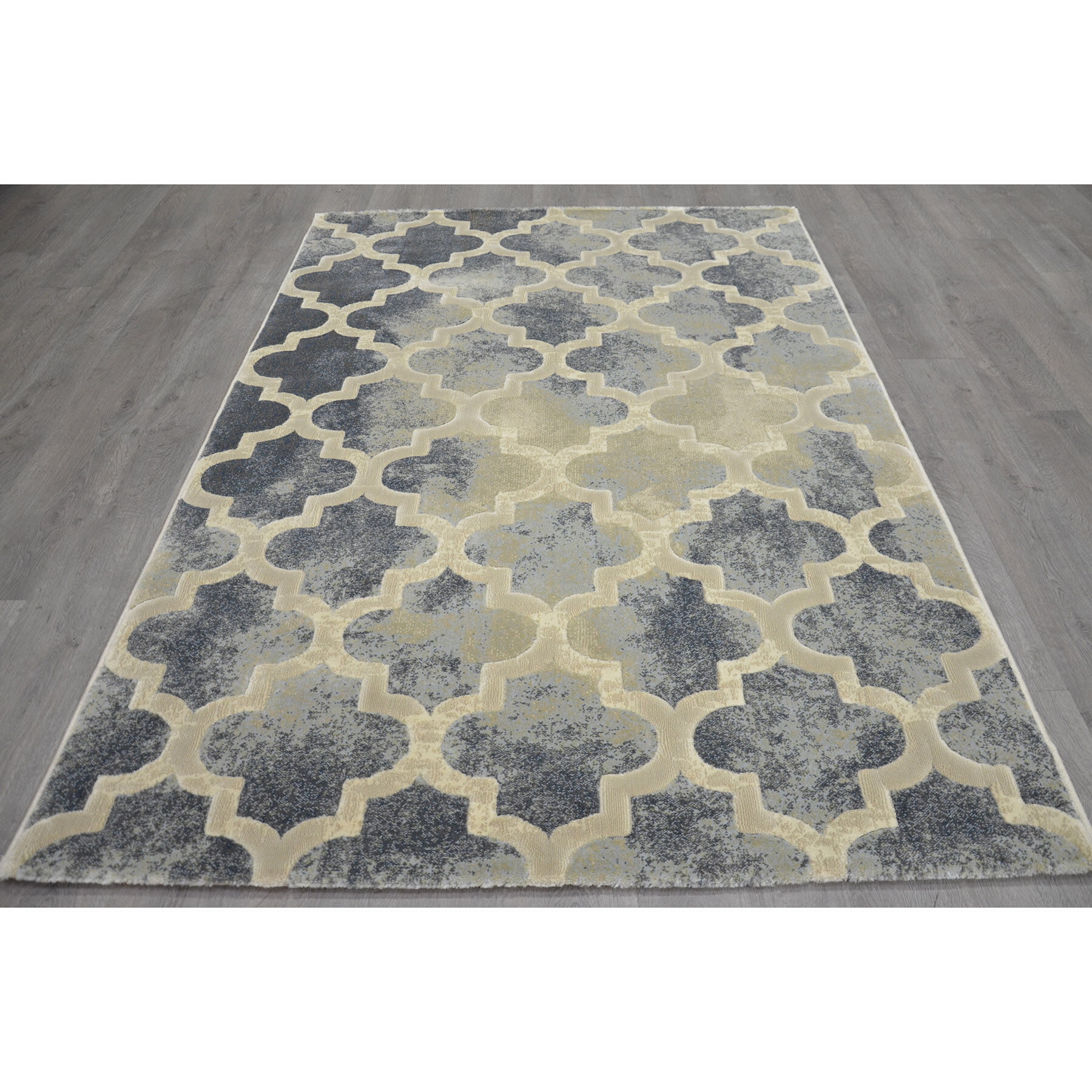 A199 Aqua And Cream Trellis Newbury Rug 5 X 7 Ft At Home