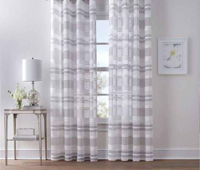 Dakota Grommet Curtain Panel  Grey