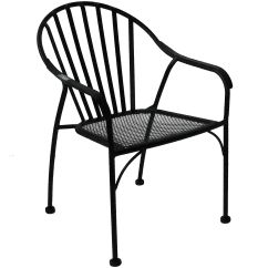 Black Patio Chairs Swivel Chair Bunnings Wrought Iron Slat At Home