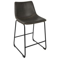 Bar Stool Chair Grey Target Sling Replacement All Barstools At Home Duke Barstool Dark 36 In