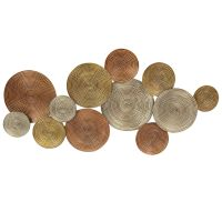 Multi Metal Plates Wall Decor- 52 x 26-in | At Home