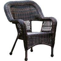 Dark Brown Wicker Chair - At Home | At Home