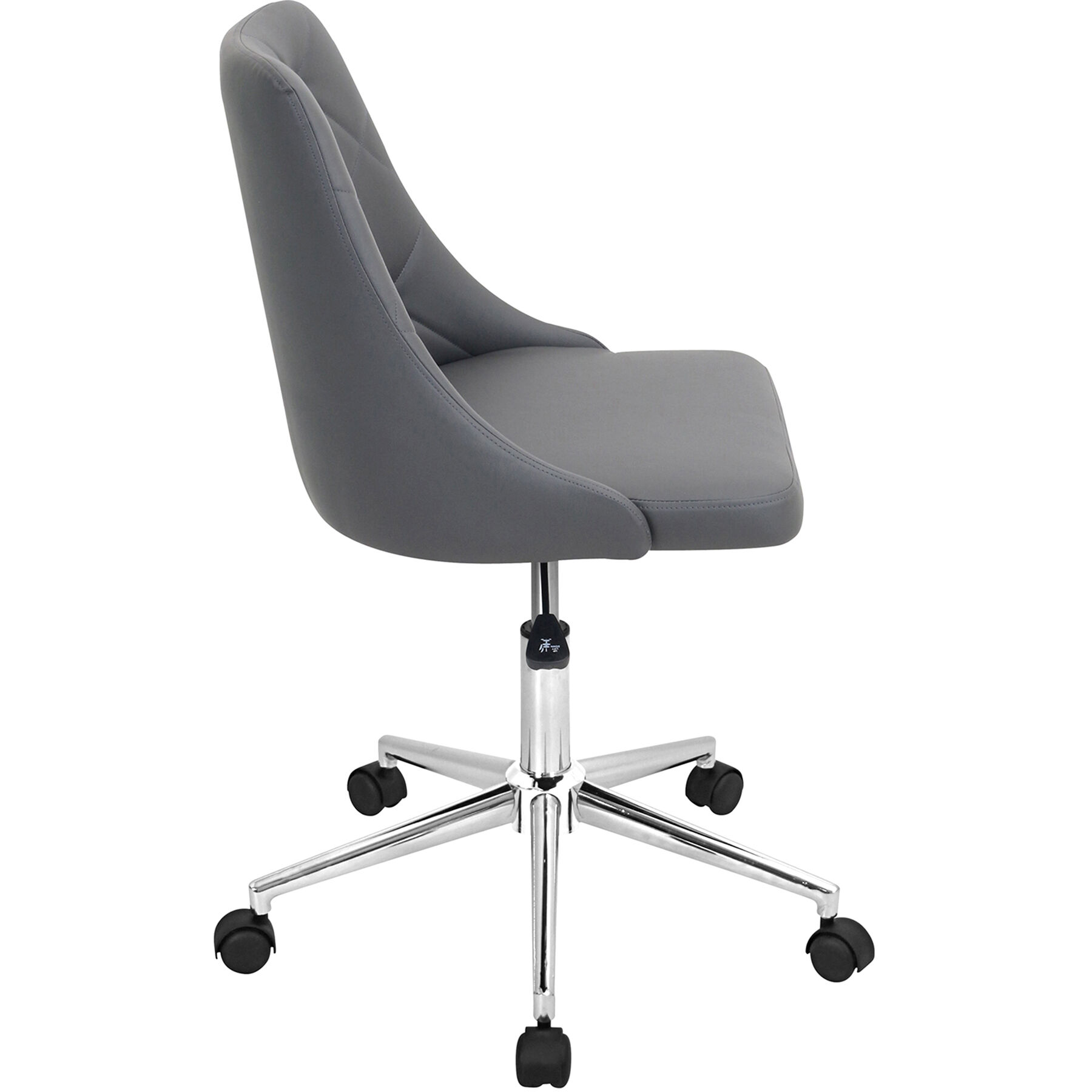 grey material office chair inexpensive ergonomic chairs marche at home