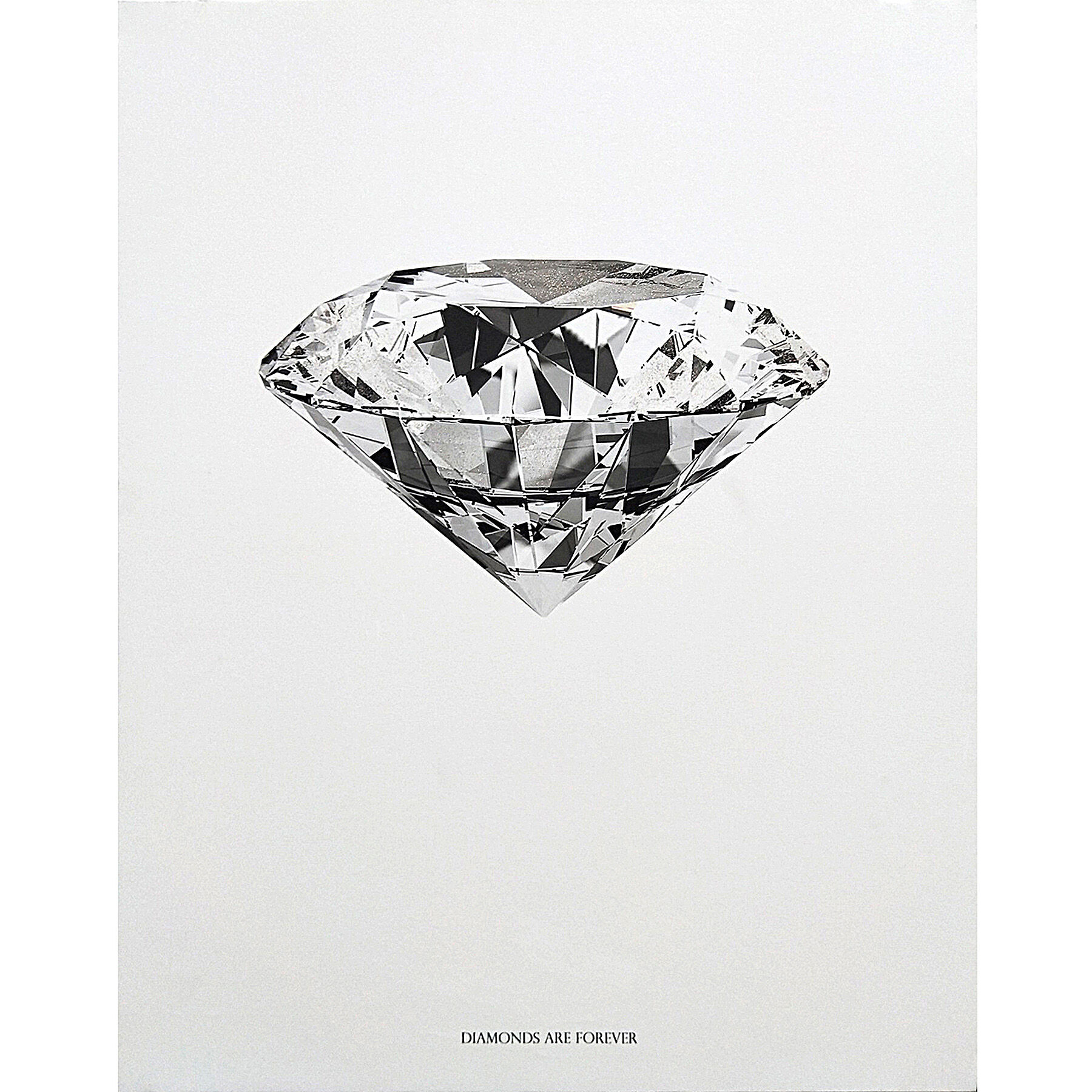 diamond forever canvas wall