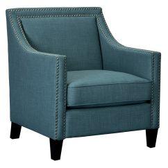 Teal Club Chair Cream Cotton Covers Erica 29x31x36 At Home