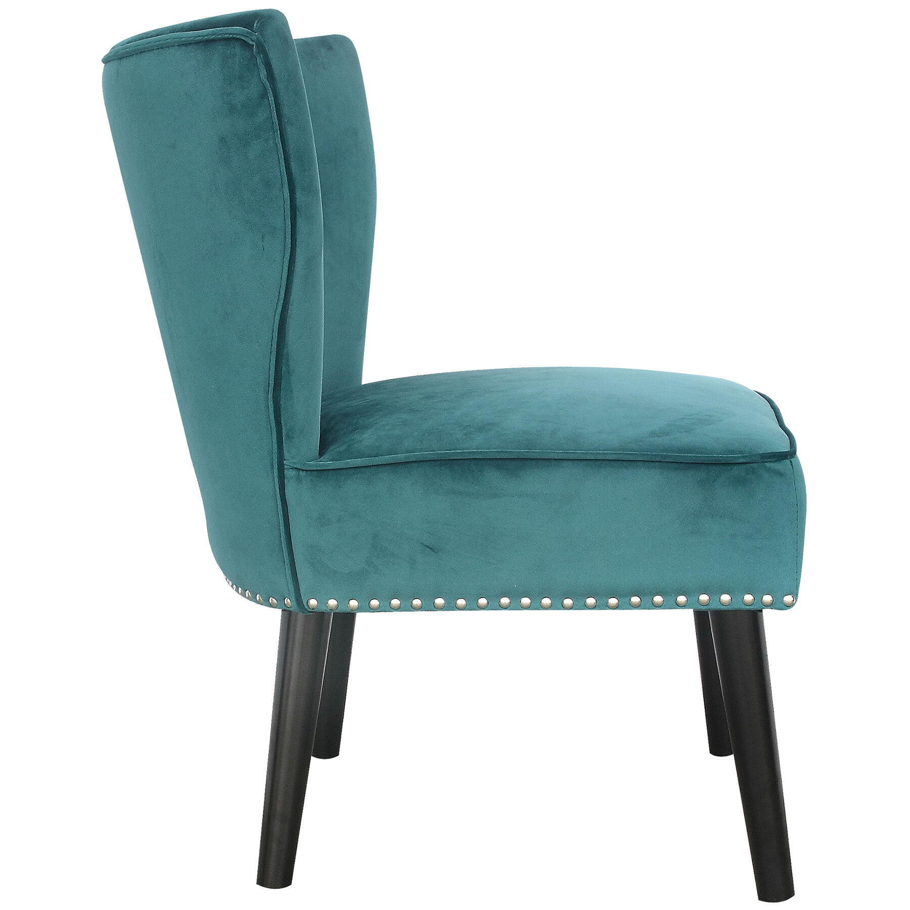 Teal Tufted Accent Chair