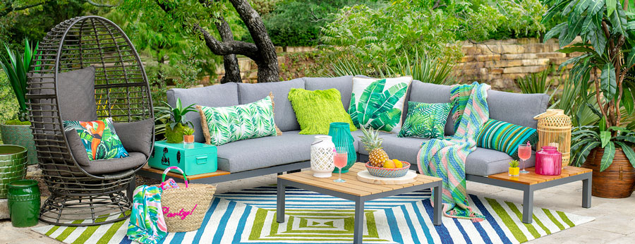tropical paradise patio at home