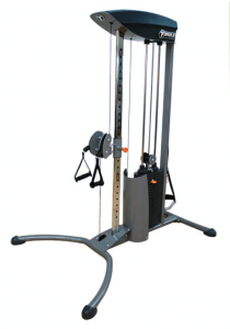 The Torque Fitness F1 Functional Trainer can help you build strength and also get a cardio workout while you're doing it.
