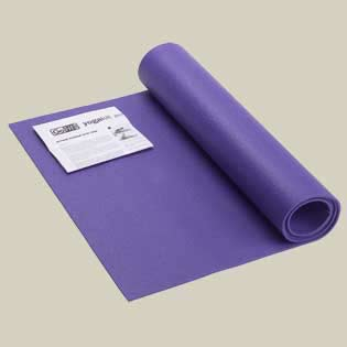Yoga Mat With Yoga Posture Poster - Blue 0.25in X 24in X 68in