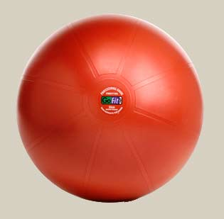 GoFit Professional Grade Burst Resistant Ball - 55CM Dark Red