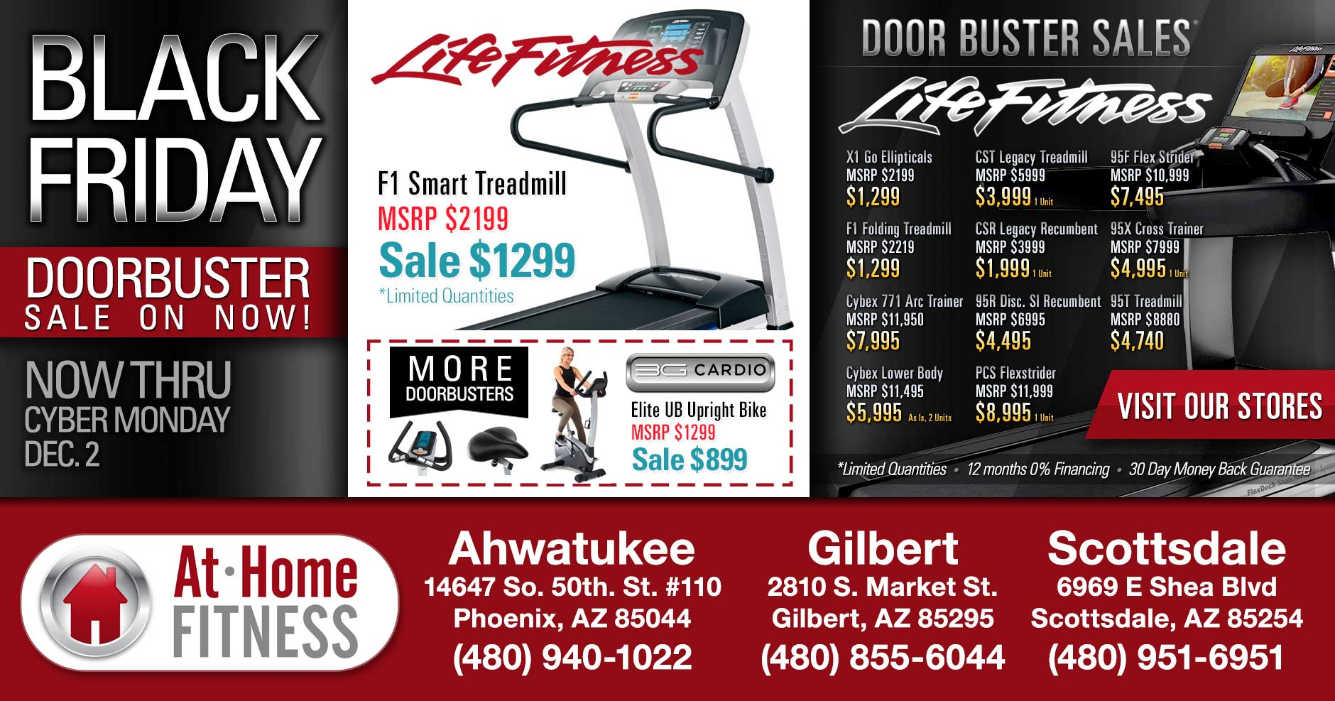 At Home Fitness Black Friday Sale 2019 on now through December 2