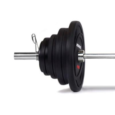 Inspire Fitness 300 LB (2.5-45 LB) URETHANE OLYMPIC SET WITH CHROME BAR