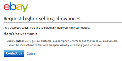 request increase allowance eBay online selling tips eCommerce