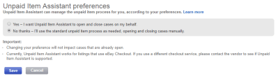 unpaid item case assistant eBay online selling tips eCommerce