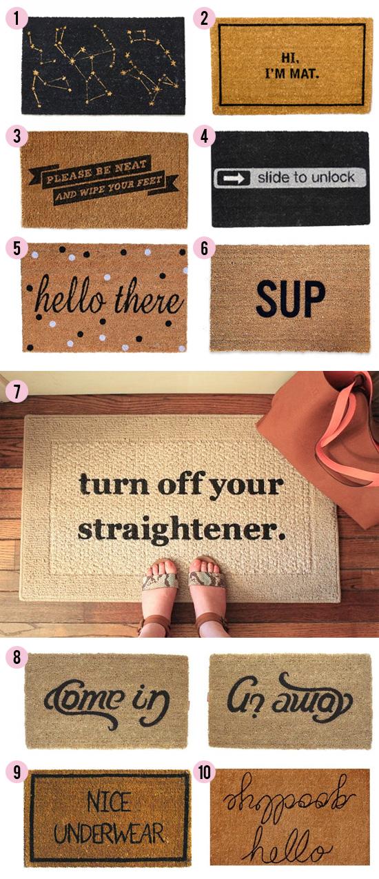 15 clever & creative door mats