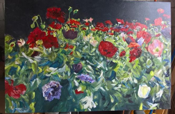 David Martin Newport Brushstrokes Inc Poppies