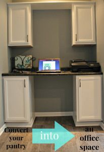 convert your pantry into an office space