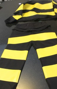 bee stripes done