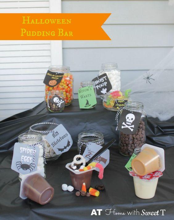 Halloween Pudding Bar