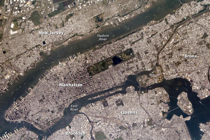 Manhattan aeral view