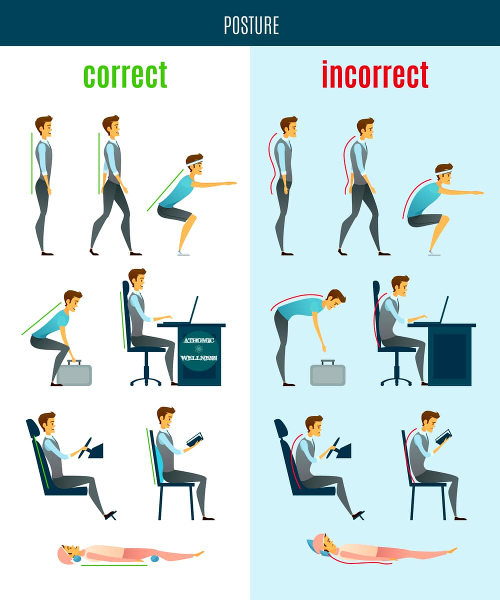 Les postures correctes et incorrectes