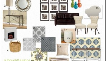 Client Living Room Design Board - A Thoughtful Place