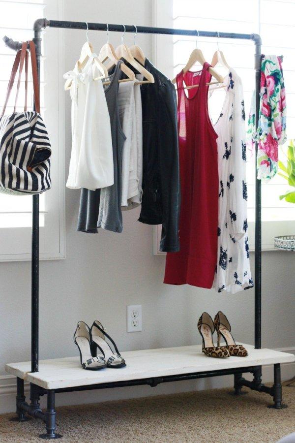 Diy Garment Rack - Thoughtful Place
