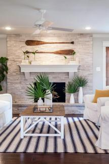 Joanna Gaines Coastal Fireplace Decorating Ideas