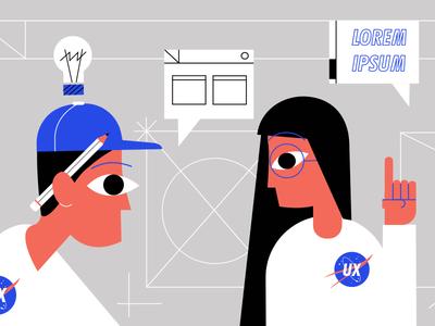 UX Experts web digital ui graphic design drawing illustration ux