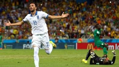 Grecia, que había sido eliminado en la primera fase en Estados Unidos-1994 y en Sudáfrica-2010, logra pasar a octavos en su tercera participación