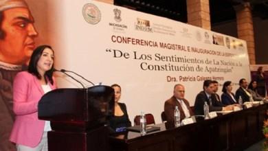 Este es un año de gran celebración, no sólo para el Estado de Michoacán, sino para todo México, ya que se cumplen 200 años de la Promulgación de la Constitución de Apatzingán, destacó la diputada Gabriela Ceballos