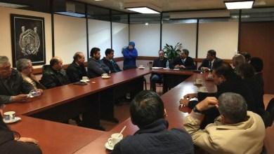 Integrantes de la Sección Sindical de Ingeniería Química del SPUM, se reúnen con el rector Medardo Serna González
