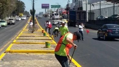 El próximo domingo se terminarán de balizar las avenidas Ventura Puente, Camelinas, Periodismo, Solidaridad y la Calzada la Huerta