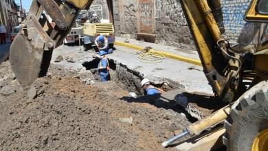 Personal del OOAPAS detectó dos fugas y se inició de inmediato su reparación