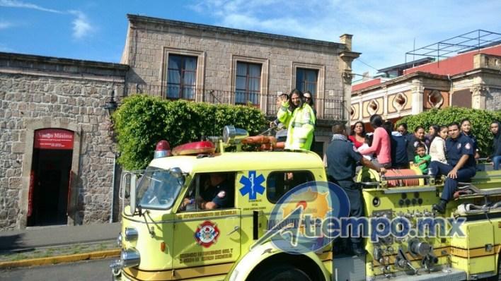 Más tarde se prevén dos actos más de conmemoración del Día del Bombero en Morelia (FOTOS: FRANCISCO ALBERTO SOTOMAYOR)