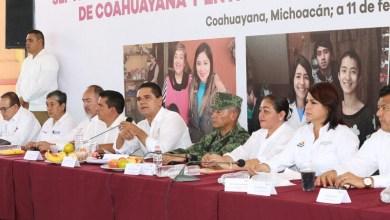 Ante los avances que se han registrado en Coahuayana desde que fue instalado el Consejo Ciudadano, Aureoles Conejo pidió a los integrantes continuar con la línea de trabajo establecida para conformar el Plan de Desarrollo Integral