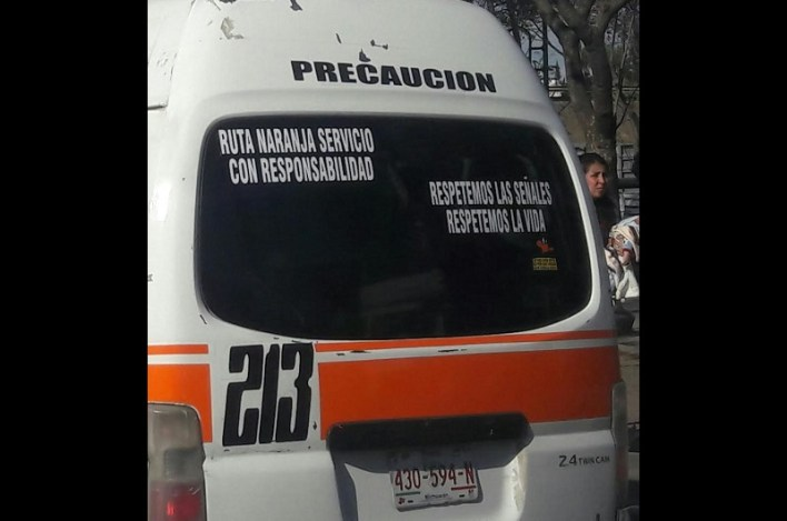 El castigo en esta ocasión para el operador de la combi con número económico 213 fue de tres horas pero en caso de reincidir, señaló Pablo Salazar, la sanción será mayor