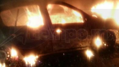 En el lugar localizaron consumido en su totalidad un vehículo Renault Clío, con placas del estado de Michoacán