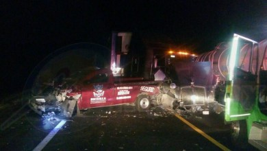 Elementos de la Policía Federal se hicieron cargo del peritaje, ya que aparentemente estuvo involucrado otro vehículo, el cual provocó el accidente y se dio a la fuga