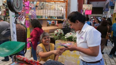 De esta manera Luisa María Calderón, se comprometió a impulsar el acceso a apoyos económicos a los micro, pequeños y medianos negocios, para su fortalecimiento y ampliación