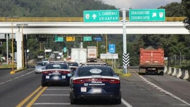 Los elementos de la Policía Michoacán realizan patrullajes en la carretera y fueron instaurados puestos de control en las casetas de Zirahuén, San Ángel Zurumucapio, Taretan y Santa Casilda