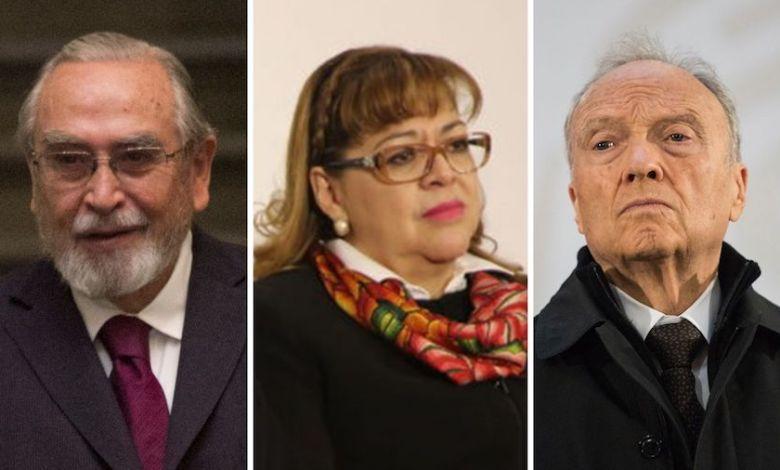 Martí Batres, presidente de la Mesa Directiva dio lectura a la minuta enviada por la Secretaría de Gobernación (Segob) confirmando los nombres de la terna del mandatario federal