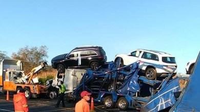 accidente, camión nodriza, Autopista Siglo 21