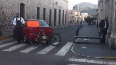 bloqueo calle, Morelia