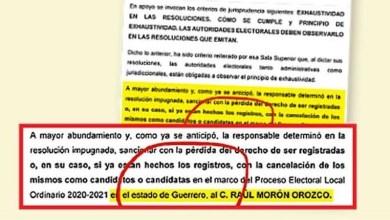impugnación, Raúl Morón, Morena, Guerrero