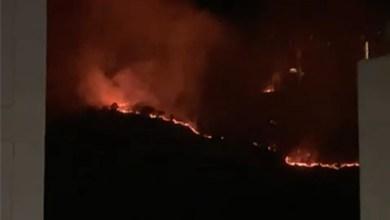incendio, Loma de Santa María